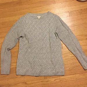 J. Crew Cozy Cableknit Sweater
